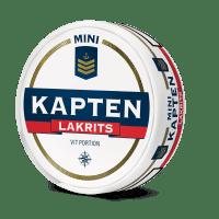 Kapten White Licorice Mini Portion Snus