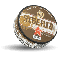 Siberia Slim Brown Extremely Strong Snus Portion