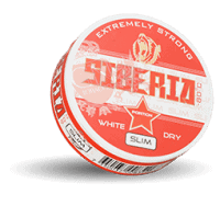Siberia Slim White Dry Extremely Strong Portion Snus