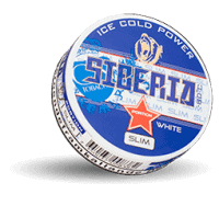 Siberia Slim White Cold Strong Snus Portion