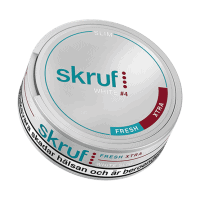 Skruf Slim Fresh Xtra Strong White Portion Snus