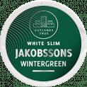 Jakobssons Slim White Wintergreen Strong Portion Snus