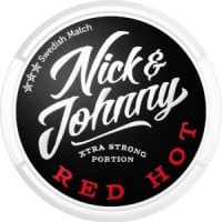 Nick & Johnny Red Hot Xtra Strong Snus Portion