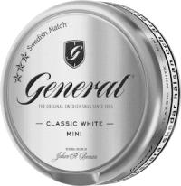 general classic white snus